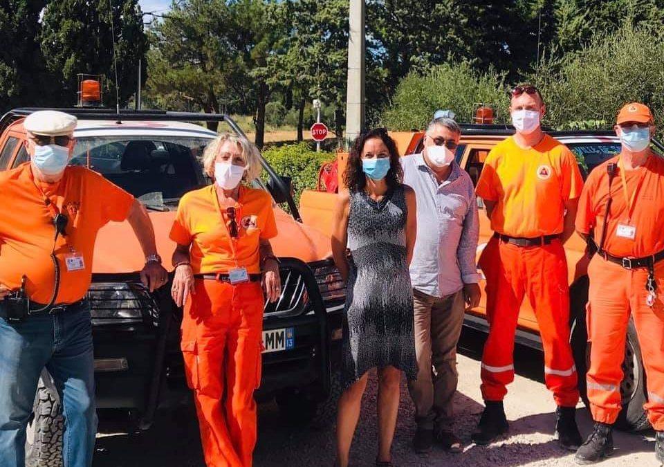 Une petite visite de terrain de notre 1er adjoint Michel ROUX accompagné de notre élue à la sécurité Vanessa PELLOQUIN